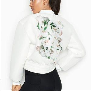 Victoria Secret Sport White Bomber Jacket